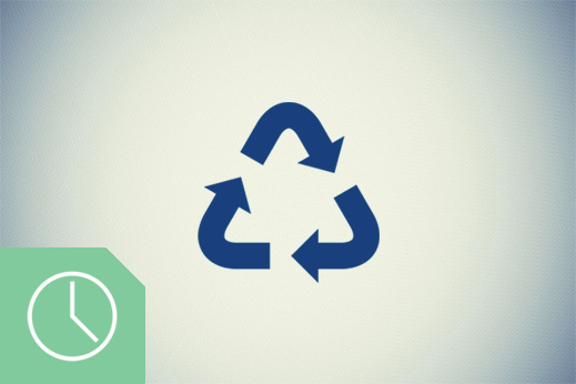 recycling-scheduled-green