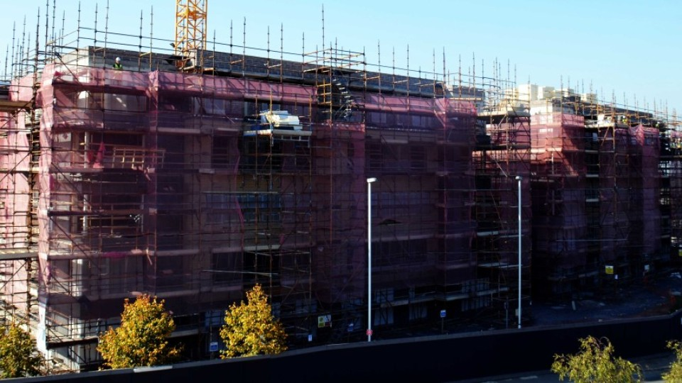 Construction work at the new Belgrove Student Residences site.