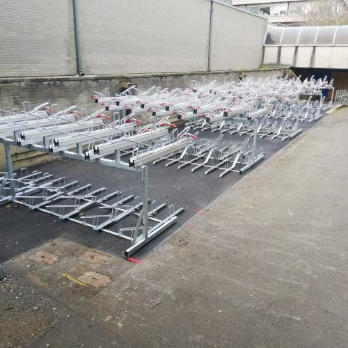 Double tier cycle parking now open